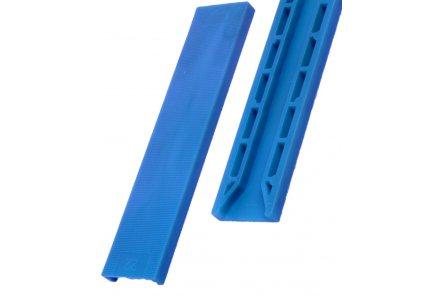 Tunnel beglazingsblokjes (100x30x2mm) blauw - per 100 stuks