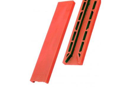 Tunnel beglazingsblokjes (100x30x3mm) rood - per 100 stuks