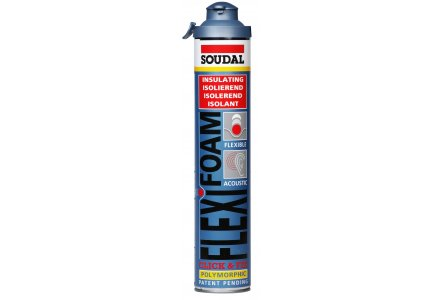 Soudal Flexifoam Click & Fix 750ml blauw 12 bussen