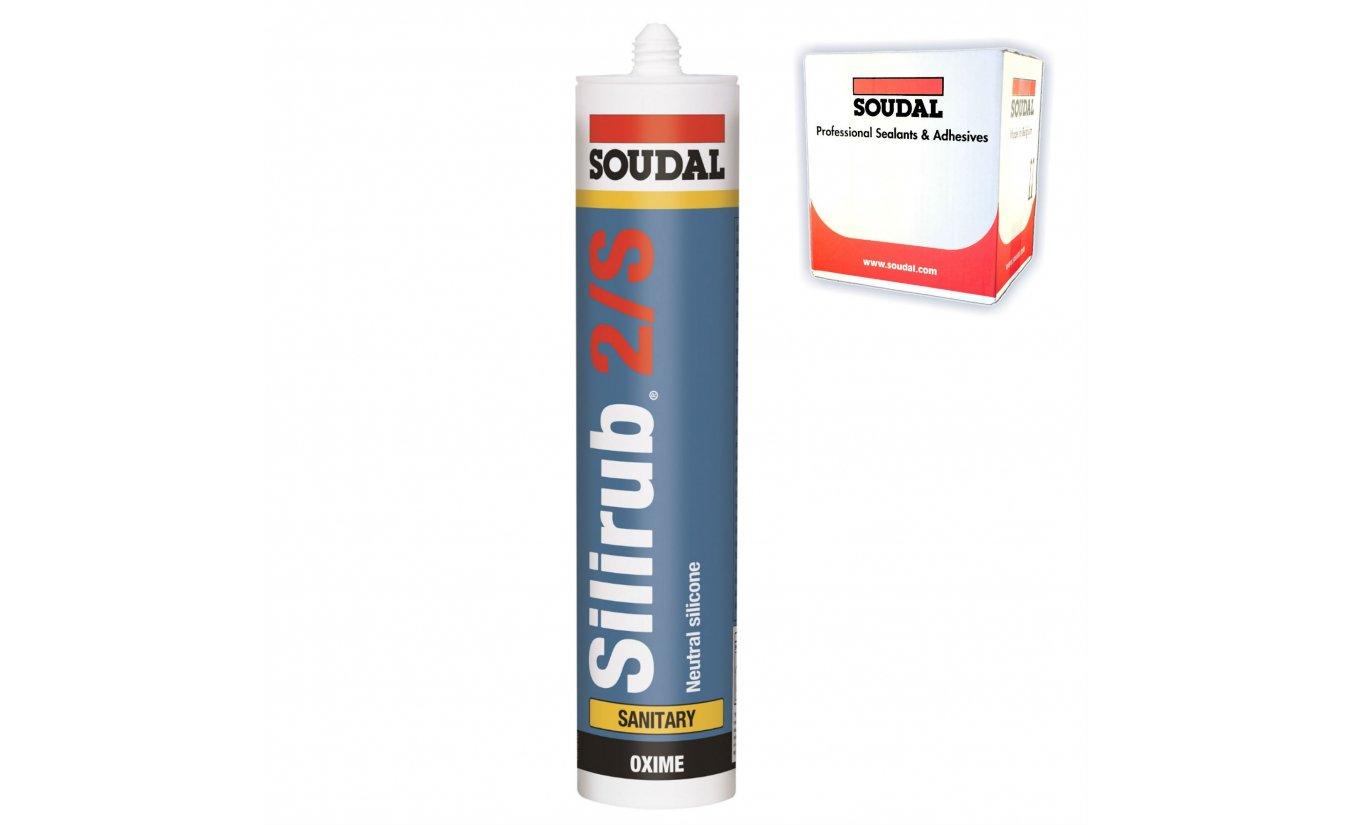 Soudal Silirub 2/S neutrale siliconenkit 300ml transparant-grijs 15 stuks